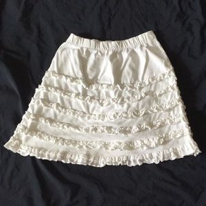 Old Navy white skirt with ruffles